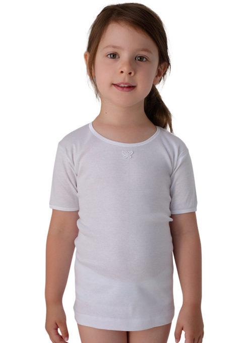 Maglietta puro cotone bambina