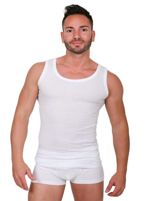 Canottiera uomo intima cotone spalla larga - art. 816